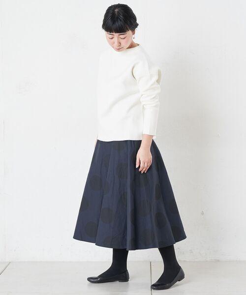 BEARDSLEY / ビアズリー ロング・マキシ丈スカート | ドットフレアスカート | 詳細1