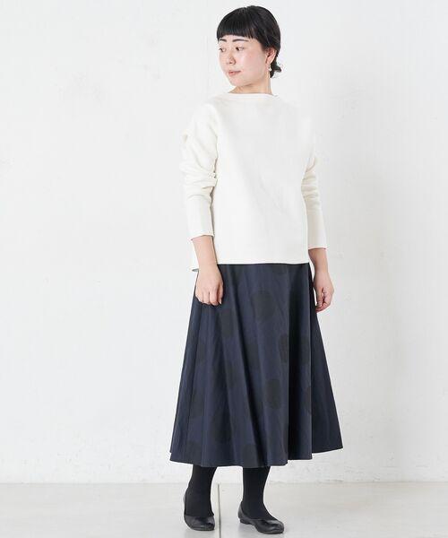 BEARDSLEY / ビアズリー ロング・マキシ丈スカート | ドットフレアスカート | 詳細3