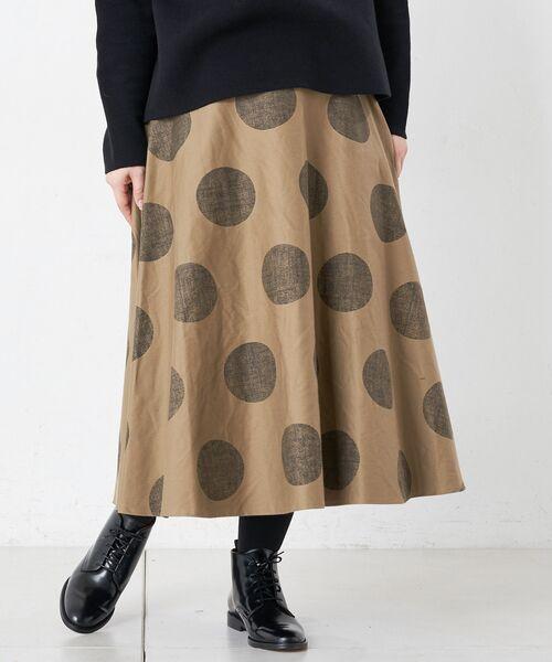 BEARDSLEY / ビアズリー ロング・マキシ丈スカート | ドットフレアスカート | 詳細10