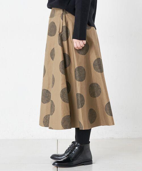 BEARDSLEY / ビアズリー ロング・マキシ丈スカート | ドットフレアスカート | 詳細12