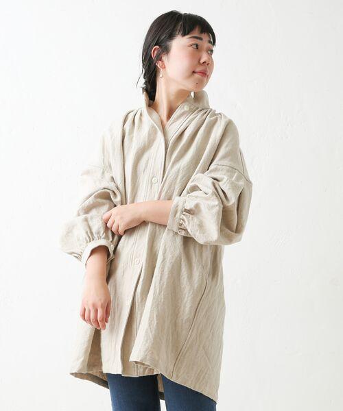 BEARDSLEY / ビアズリー シャツ・ブラウス | ウールリネンシャツジャケット | 詳細1