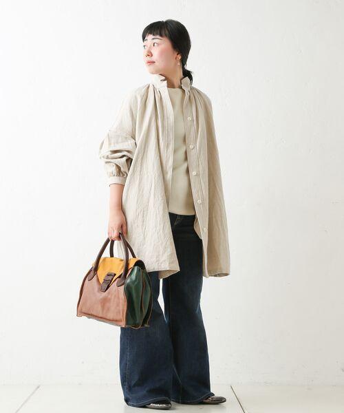 BEARDSLEY / ビアズリー シャツ・ブラウス | ウールリネンシャツジャケット | 詳細10