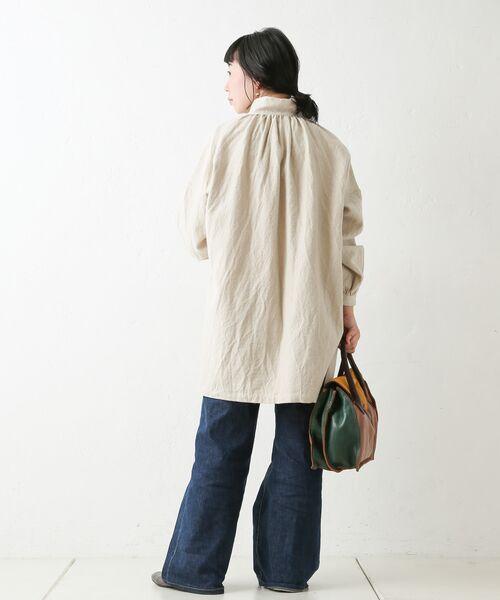 BEARDSLEY / ビアズリー シャツ・ブラウス | ウールリネンシャツジャケット | 詳細12