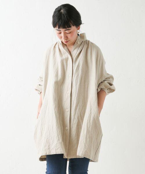 BEARDSLEY / ビアズリー シャツ・ブラウス | ウールリネンシャツジャケット | 詳細5
