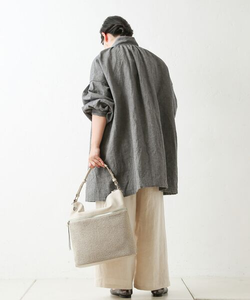 BEARDSLEY / ビアズリー シャツ・ブラウス | ウールリネンシャツジャケット | 詳細25