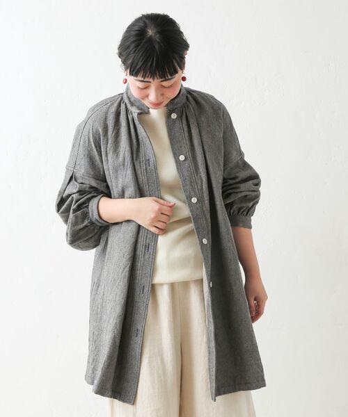 BEARDSLEY / ビアズリー シャツ・ブラウス | ウールリネンシャツジャケット | 詳細17