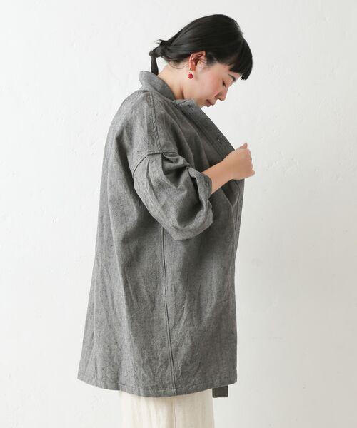 BEARDSLEY / ビアズリー シャツ・ブラウス | ウールリネンシャツジャケット | 詳細20