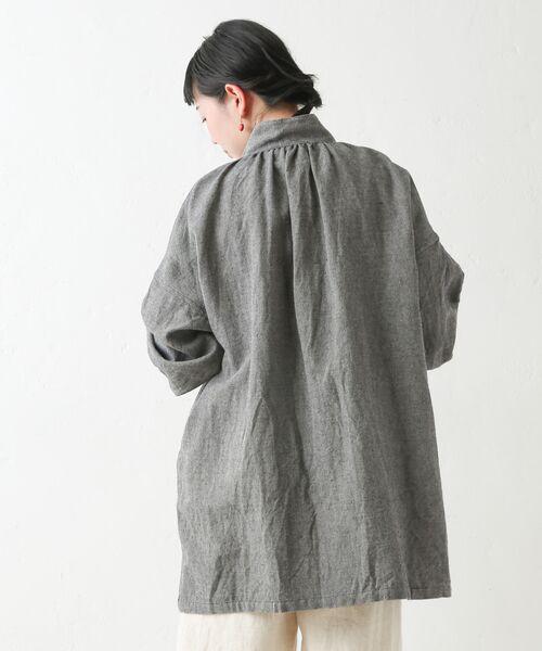 BEARDSLEY / ビアズリー シャツ・ブラウス | ウールリネンシャツジャケット | 詳細21