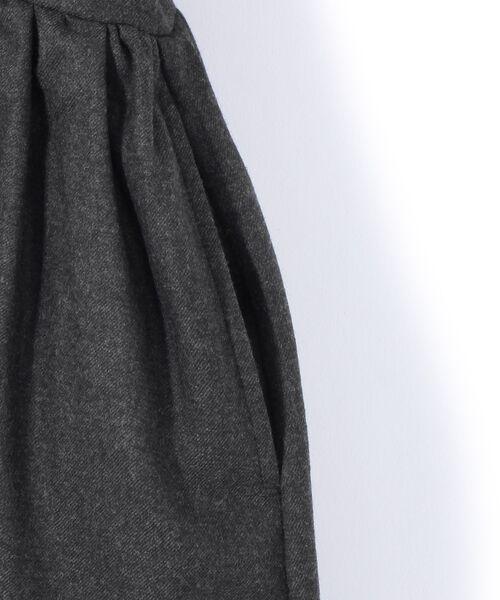 BEARDSLEY / ビアズリー ロング・マキシ丈ワンピース   ウールギャザーシャツワンピース   詳細4
