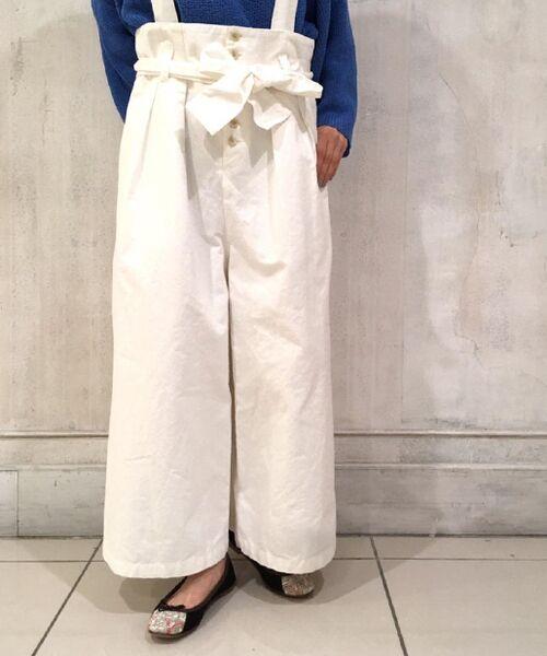 BEARDSLEY / ビアズリー ミニ丈・ひざ丈ワンピース | 2wayタックワイドパンツ(ホワイト)