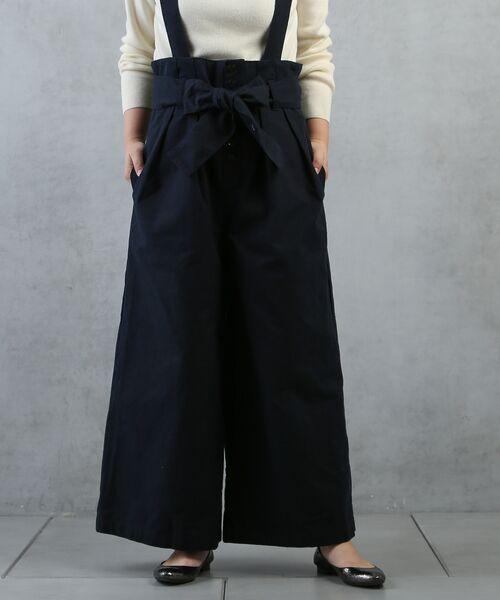 BEARDSLEY / ビアズリー ミニ丈・ひざ丈ワンピース | 2wayタックワイドパンツ(ネイビー)