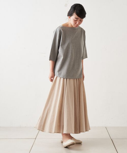 BEARDSLEY / ビアズリー ロング・マキシ丈スカート | ウエストジャージースカート | 詳細2