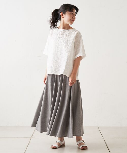 BEARDSLEY / ビアズリー ロング・マキシ丈スカート | ウエストジャージースカート | 詳細10