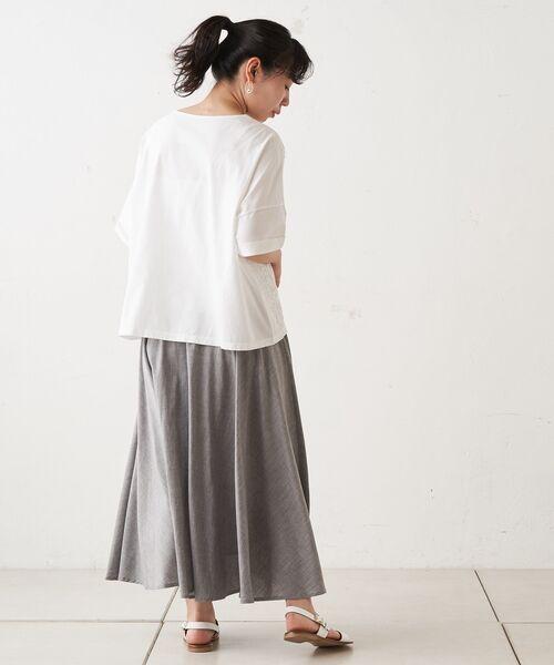 BEARDSLEY / ビアズリー ロング・マキシ丈スカート | ウエストジャージースカート | 詳細11