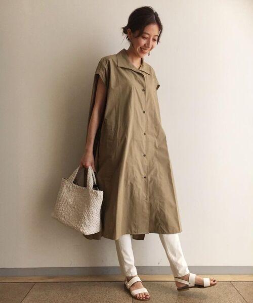 BEARDSLEY / ビアズリー ロング・マキシ丈ワンピース | BIGシャツワンピース(サンドベージュ)