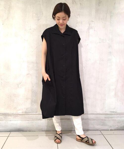 BEARDSLEY / ビアズリー ロング・マキシ丈ワンピース | BIGシャツワンピース(ブラック)