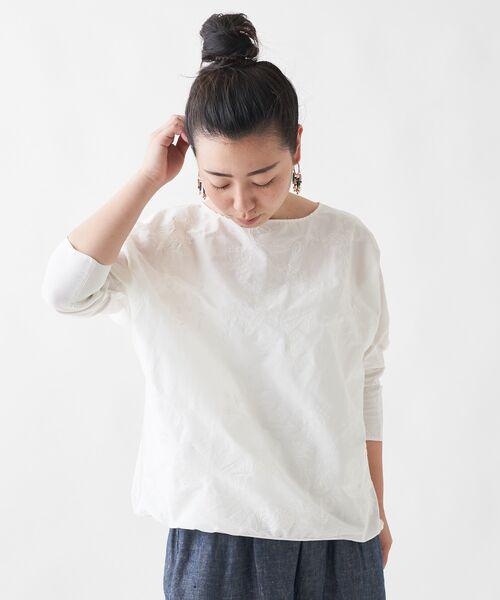 BEARDSLEY / ビアズリー シャツ・ブラウス   刺繍シャツTシャツ   詳細4