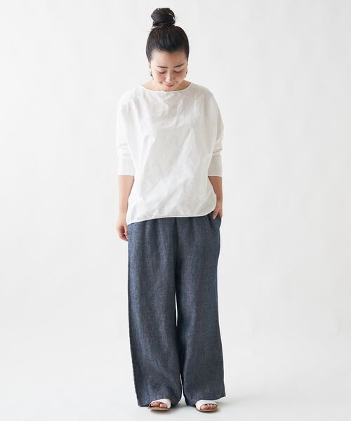 BEARDSLEY / ビアズリー シャツ・ブラウス   刺繍シャツTシャツ(ホワイト)