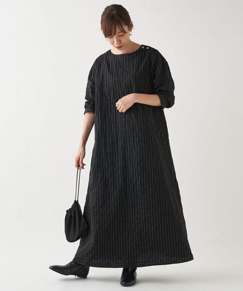 BEARDSLEY / ビアズリー ロング・マキシ丈ワンピース | キルトロングワンピース | 詳細16