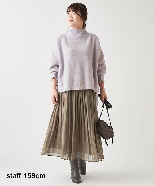 BEARDSLEY / ビアズリー ロング・マキシ丈スカート | シワシフォンギャザースカート | 詳細1