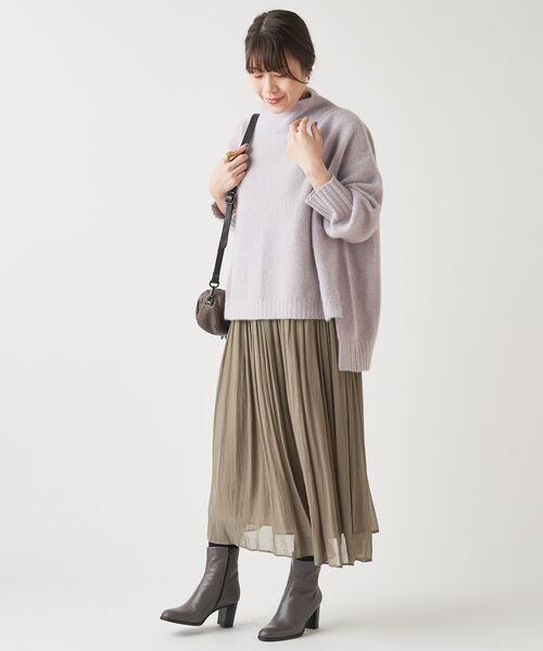 BEARDSLEY / ビアズリー ロング・マキシ丈スカート | シワシフォンギャザースカート | 詳細2
