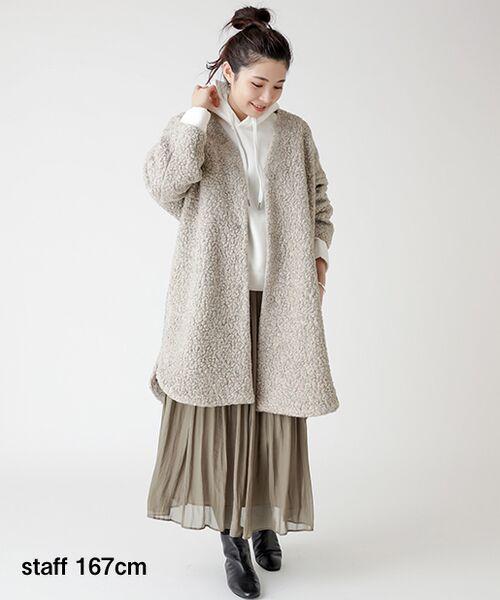 BEARDSLEY / ビアズリー ロング・マキシ丈スカート | シワシフォンギャザースカート | 詳細4