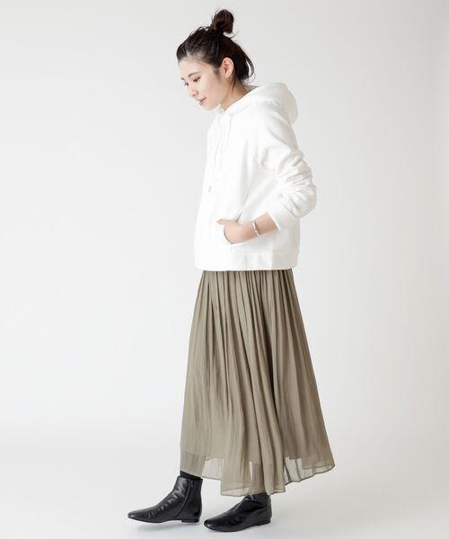 BEARDSLEY / ビアズリー ロング・マキシ丈スカート | シワシフォンギャザースカート | 詳細5