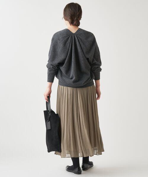 BEARDSLEY / ビアズリー ロング・マキシ丈スカート | シワシフォンギャザースカート | 詳細7