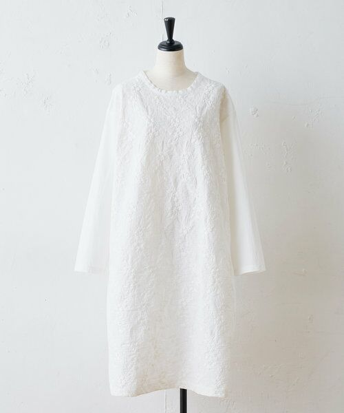 BEARDSLEY / ビアズリー ロング・マキシ丈ワンピース   フロント刺繍ワンピース   詳細12