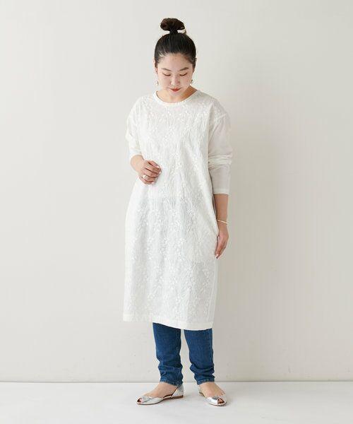 BEARDSLEY / ビアズリー ロング・マキシ丈ワンピース   フロント刺繍ワンピース   詳細3