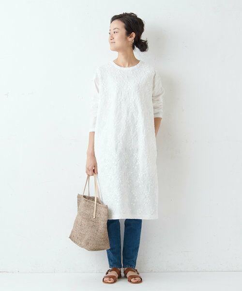 BEARDSLEY / ビアズリー ロング・マキシ丈ワンピース   フロント刺繍ワンピース   詳細8