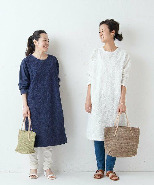 BEARDSLEY / ビアズリー ロング・マキシ丈ワンピース   フロント刺繍ワンピース   詳細25