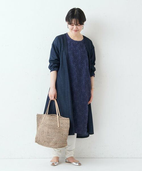 BEARDSLEY / ビアズリー ロング・マキシ丈ワンピース   フロント刺繍ワンピース   詳細27