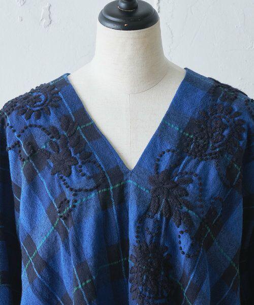 BEARDSLEY / ビアズリー シャツ・ブラウス | ウールチェックハンド刺繍ブラウス | 詳細12