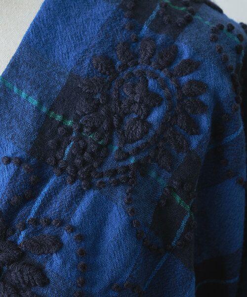 BEARDSLEY / ビアズリー シャツ・ブラウス | ウールチェックハンド刺繍ブラウス | 詳細13
