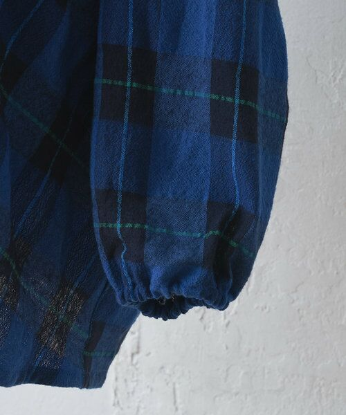 BEARDSLEY / ビアズリー シャツ・ブラウス | ウールチェックハンド刺繍ブラウス | 詳細14