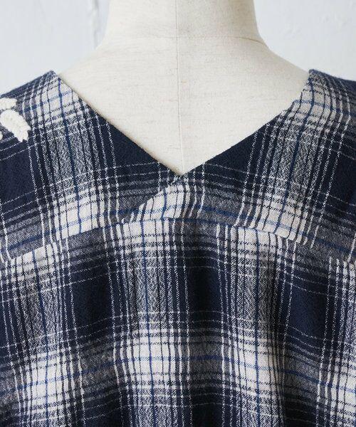 BEARDSLEY / ビアズリー シャツ・ブラウス | ウールチェックハンド刺繍ブラウス | 詳細27
