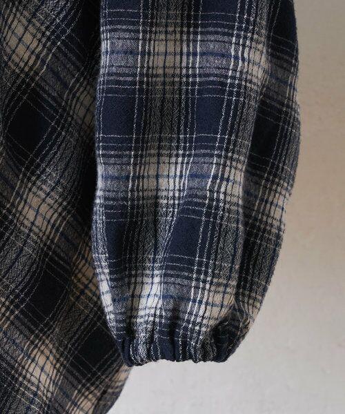 BEARDSLEY / ビアズリー シャツ・ブラウス | ウールチェックハンド刺繍ブラウス | 詳細29