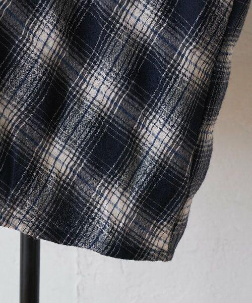BEARDSLEY / ビアズリー シャツ・ブラウス | ウールチェックハンド刺繍ブラウス | 詳細30