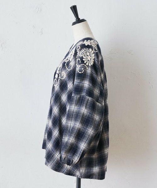 BEARDSLEY / ビアズリー シャツ・ブラウス | ウールチェックハンド刺繍ブラウス | 詳細24
