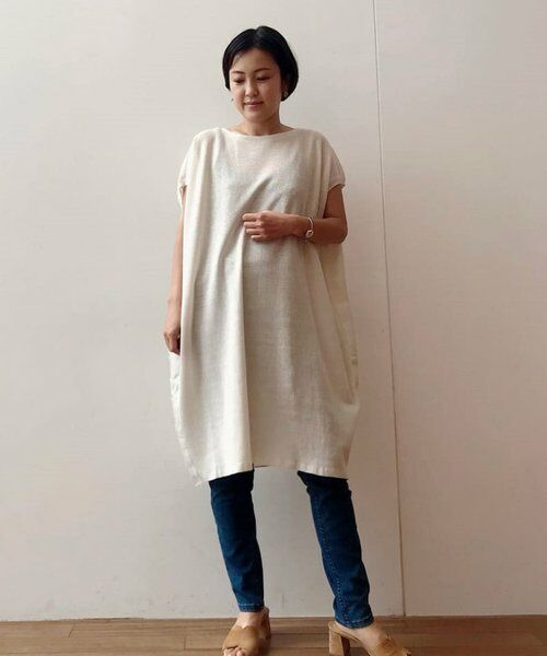 BEARDSLEY / ビアズリー ニット・セーター | 後ろ裾刺繍チュニック | 詳細1