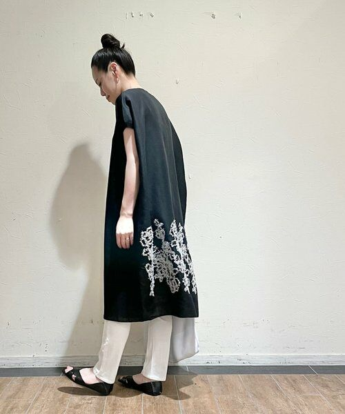 BEARDSLEY / ビアズリー ニット・セーター | 後ろ裾刺繍チュニック | 詳細10