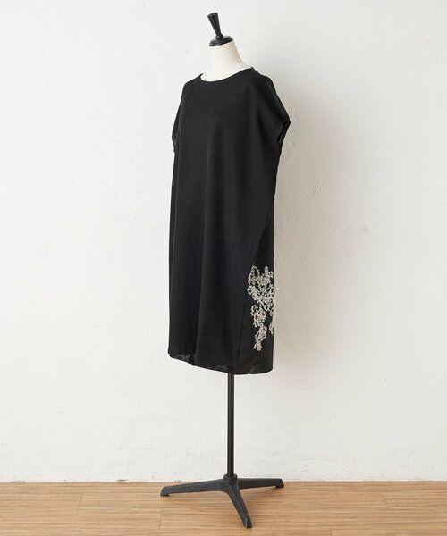 BEARDSLEY / ビアズリー ニット・セーター | 後ろ裾刺繍チュニック | 詳細13