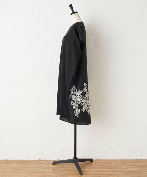 BEARDSLEY / ビアズリー ニット・セーター | 後ろ裾刺繍チュニック | 詳細14