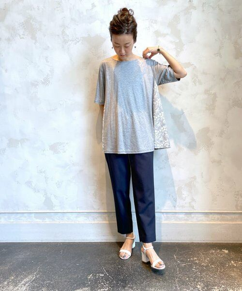 BEARDSLEY / ビアズリー カットソー   サイド刺繍フレアカットソー   詳細5