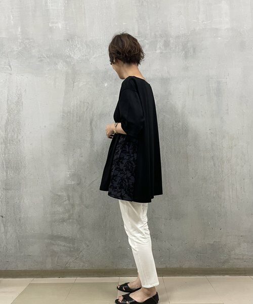 BEARDSLEY / ビアズリー カットソー   サイド刺繍フレアカットソー   詳細15