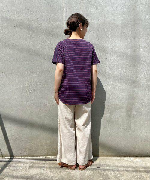 BEARDSLEY / ビアズリー カットソー | merci刺繍ボーダーT | 詳細3