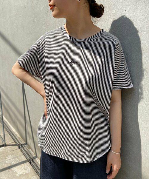 BEARDSLEY / ビアズリー カットソー | merci刺繍ボーダーT(ブラック)