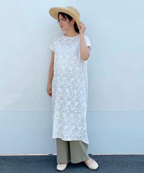 BEARDSLEY / ビアズリー ロング・マキシ丈ワンピース   フロント刺繍フレンチワンピース   詳細1