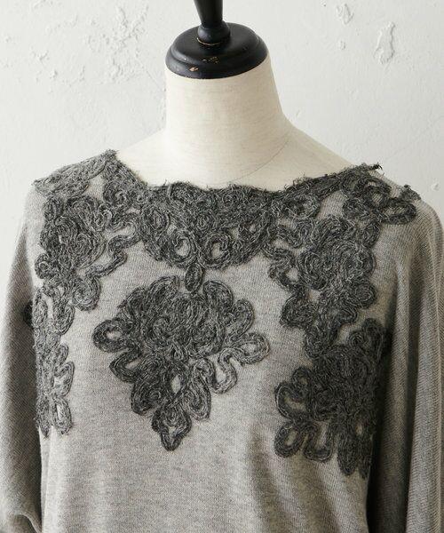 BEARDSLEY / ビアズリー ニット・セーター   襟ぐり刺繍ニット   詳細10